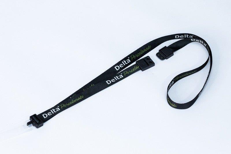Cordão para crachá personalizado com trava de segurança